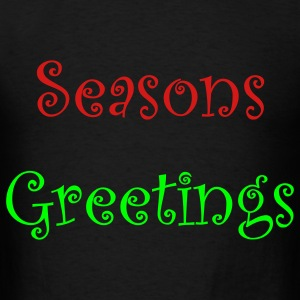Black seasons_greetings Bags  - Men's T-Shirt
