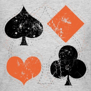 Gray vintage poker playing cards Women's T-Shirts - Women's Long Sleeve Jersey T-Shirt