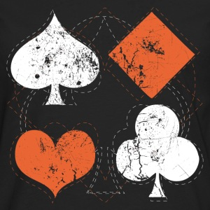 Black vintage poker playing cards Women's T-Shirts - Men's Premium Long Sleeve T-Shirt