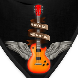 Black rock_guitar_a_red T-Shirts - Bandana
