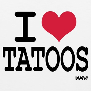 White/black i love tatoos by wam T-Shirts - Men's Premium Tank