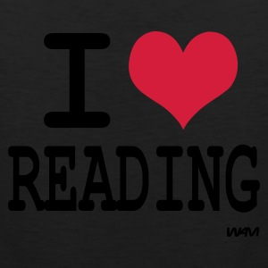 Black i love reading by wam Women's T-Shirts - Men's Premium Tank