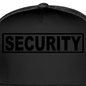 Black Security Women's T-Shirts - Trucker Cap