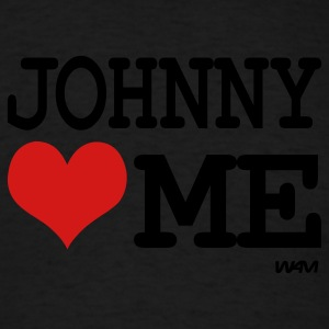 Black johnny loves me by wam Hoodies - Men's T-Shirt