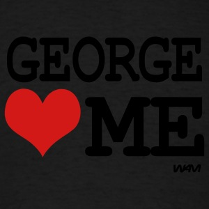 Black george loves me by wam Hoodies - Men's T-Shirt