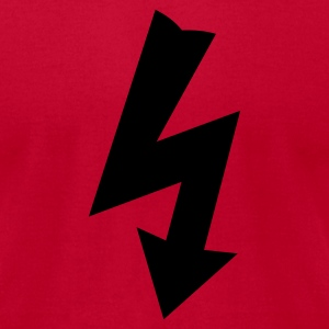 Red Electricity Symbol Long Sleeve Shirts - Men's T-Shirt by American Apparel