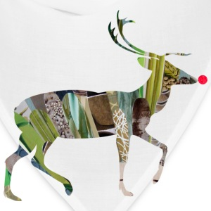 White collage art REINDEER Kids' Shirts - Bandana