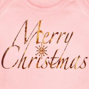 Pink MERRY CHRISTMAS SNOWFLAKE Sweatshirts - Short Sleeve Baby Bodysuit