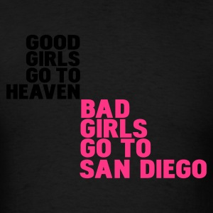Black bad girls go to san diego Hoodies - Men's T-Shirt