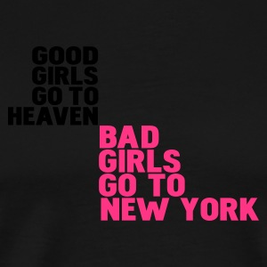 Black bad girls go to new york Hoodies - Men's Premium T-Shirt