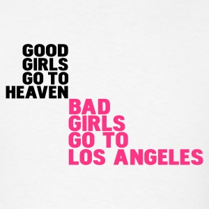 White bad girls go to los angeles Hoodies - Men's T-Shirt