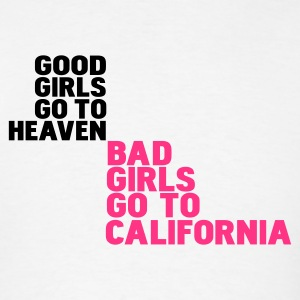 White bad girls go to california Hoodies - Men's T-Shirt