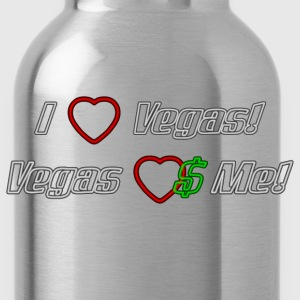 I Love Vegas! Neon - Water Bottle