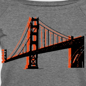 Deep heather Golden Gate Bridge Women's T-Shirts - Women's Wideneck Sweatshirt
