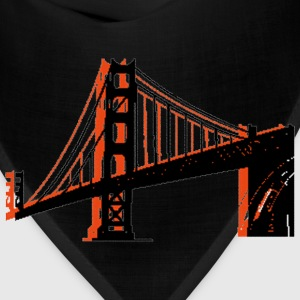 Navy Golden Gate Bridge Women's T-Shirts - Bandana