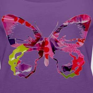 Light pink BUTTERFLY (pinks/greens) Hoodies - Women's Premium Tank Top