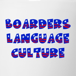 White Boarders Language Culture Buttons - Coffee/Tea Mug