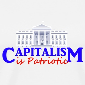 White Capitalism is Patriotic Buttons - Men's Premium T-Shirt