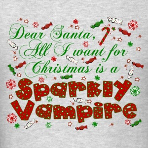 Dear Santa Sparkly Vampire New Moon Christmas Kids Hoodie - Men's T-Shirt