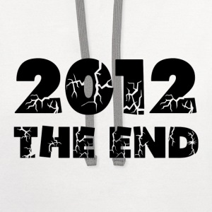 White 2012 The End Kids' Shirts - Contrast Hoodie