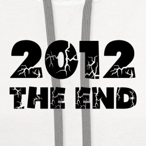 White 2012 The End Buttons - Contrast Hoodie