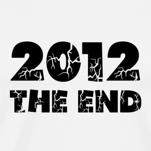 White 2012 The End Buttons - Men's Premium T-Shirt