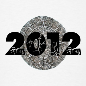 White 2012 Mayan Calendar Buttons - Men's T-Shirt