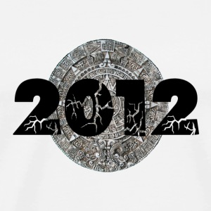 White 2012 Mayan Calendar Buttons - Men's Premium T-Shirt