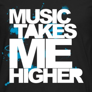 Black Music Takes Me Higher (White) Kids' Shirts - Men's Premium Long Sleeve T-Shirt