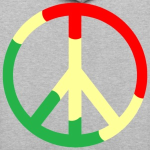 Light oxford Rasta Peace Sign T-Shirts - Contrast Hoodie