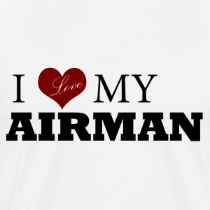White Love my AIRMAN Hoodies - Men's Premium T-Shirt