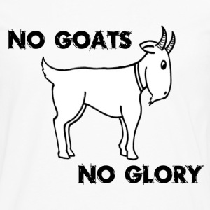 White No Goats No Glory Men Who Stare At Goats Kids' Shirts - Men's Premium Long Sleeve T-Shirt