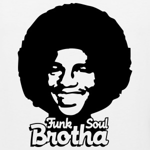 White funk_soul_brotha_1c Women's T-Shirts - Men's Premium Tank