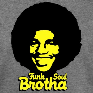 Deep heather funk_soul_brotha_2c Women's T-Shirts - Women's Wideneck Sweatshirt