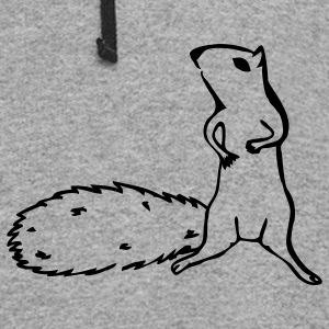 Slate squirrel T-Shirts - Colorblock Hoodie