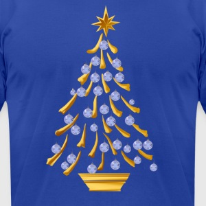 Decorated Gold Christmas Tree - Men's T-Shirt by American Apparel