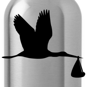 Turquoise Stork T-Shirts - Water Bottle