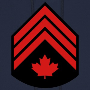 Navy Canadian Forces Sergeant T-Shirts - Men's Hoodie