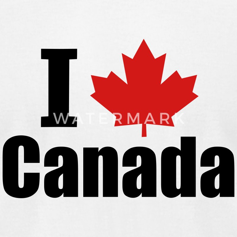White I Heart Canada T-Shirts - Men's T-Shirt by American Apparel