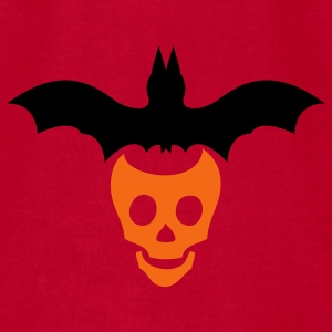 Red halloween skull and bat Baby Body - Men's T-Shirt by American Apparel