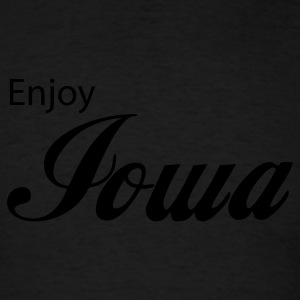 Black iowa Hoodies - Men's T-Shirt