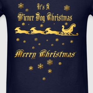 It's A Wiener Dog Christmas - Men's T-Shirt