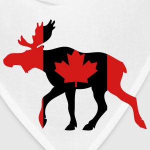 White Canadian Moose Long Sleeve Shirts - Bandana