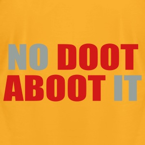 Creme No Doot Aboot It Bags  - Men's T-Shirt by American Apparel