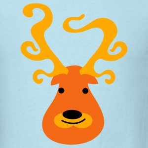 Powder blue fat reindeer Baby Body - Men's T-Shirt
