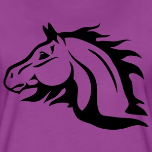 Light pink horse with flames as mane Baby Body - Women's Premium T-Shirt