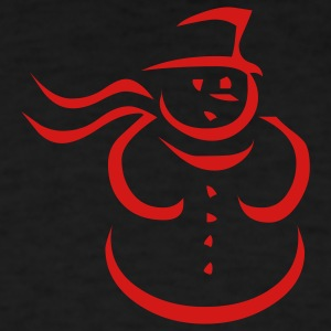 Black snowman Long Sleeve Shirts - Men's T-Shirt