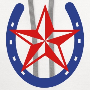 White Horseshoe Nautical Star Women's T-Shirts - Contrast Hoodie