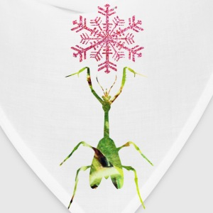 White PRAY FOR SNOW (mantis) Kids' Shirts - Bandana