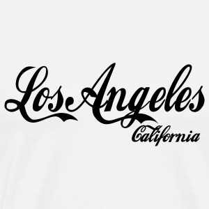White los angeles california Hoodies - Men's Premium T-Shirt
